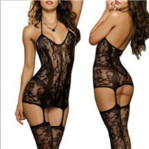 Trinidad Fishnet Garter Dress at BetterSex.com