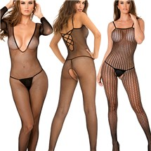 Models in Black Bodystocking