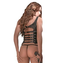 Harlot Cupless Lace Up Corset