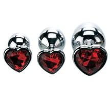 Three Hearts Gem Anal Plug Set